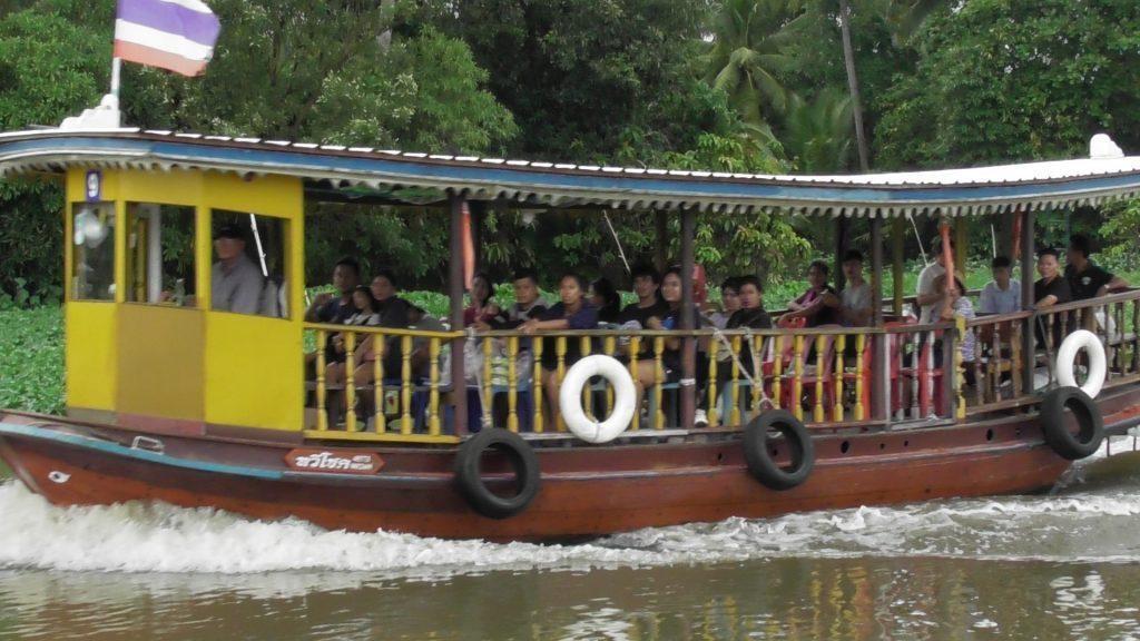 Boat trip from Wat Rai Khing to Wat Don Wai water market.