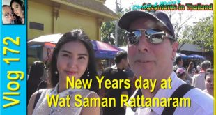 New Years day at Wat Saman Rattanaram