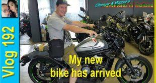 My new bike has arrived (รถจักรยานยนต์ใหม่ของฉันมาถึงแล้ว)