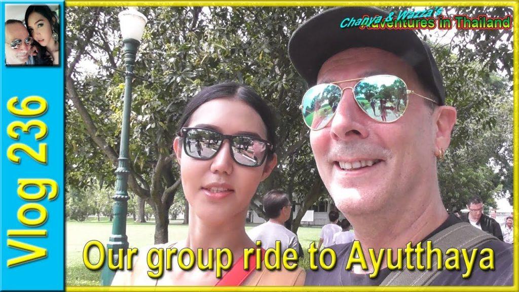 Our group ride to Ayutthaya (รถจักรยานยนต์ของเราไปอยุธยา) - Chanya & Wazza's Adventures in Thailand