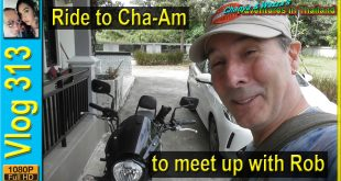 Ride to Cha-Am to meet up with Rob