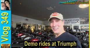 Demo rides at the Triumph dealership