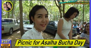 Temple picnic for Asalha Bucha Day