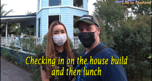 Checking in on the house build and then lunch