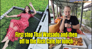 First stop Thai Watsadu and then off to the Rich Cafe for lunch